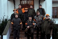 Big game of hunt  in Poland : National Forests in Spala.